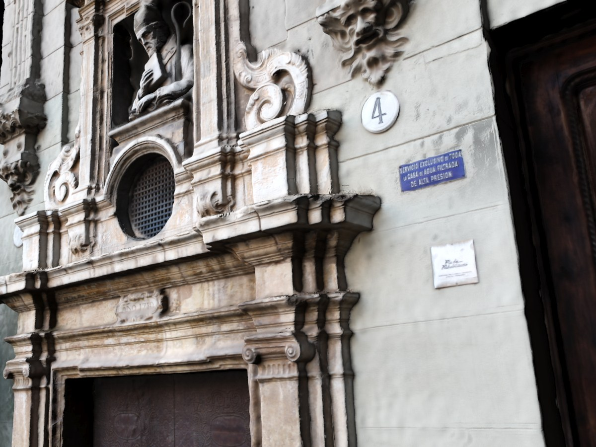 Nubes de puntos. Fotogrametría terrestre. Puerta San Vicente Ferrer. Valencia.