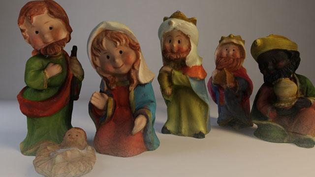 Impresión 3D, digitalización. Figuras de belén navideño.