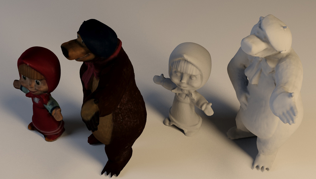Escáner 3D. Masha y Oso.